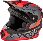 Fly Racing 2018 Youth Toxin Original Full Face Helmet - Matte Orange/Black/Grey