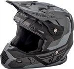 Fly Racing 2018 Youth Toxin Original Full Face Helmet - Matte Black/Grey