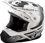 Fly Racing 2018 Youth Toxin Original Full Face Helmet - Matte White/Black