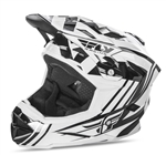 Fly Racing 2017 Youth MTB Default Full Face Helmet - Black/White