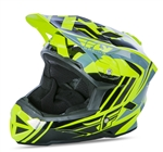 Fly Racing 2017 Youth MTB Default Full Face Helmet - Hi-Vis/Black