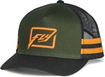 Fly Racing 2018 Youth Huck It Hat - Army/Orange