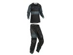 FLY Racing 2018 Youth Kinetic Mesh Combo Jersey Pant - Black/Grey