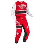 FLY Racing 2018 Youth Kinetic Mesh Combo Jersey Pant - Red/White/Black