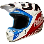 Fox Racing 2017 V1 LE Fiend Full Face Helmet - Blue/Red