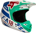 Fox Racing 2018 V1 Sayak Full Face Helmet - Green