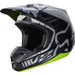 Fox Racing 2017 V2 Nirv Full Face Helmet - Grey/Yellow