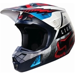 Fox Racing 2017 V2 Vicious Full Face Helmet - Blue/White/Red