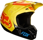 Fox Racing 2017 V2 Preme Full Face Helmet - Black/Yellow