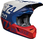 Fox Racing 2018 V3 Draftr Full Face Helmet - Blue