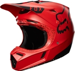 Fox Racing 2017 V3 Red Moth LE Full Face Helmet - Red/Black