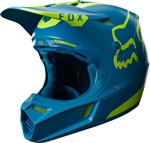 Fox Racing 2017 V3 Red Moth LE Full Face Helmet - Teal