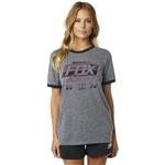 Fox Racing 2018 Womens First Placed BF Tee - Heather Graphite