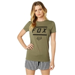 Fox Racing 2018 Womens Listless Crew - Fatigue Green