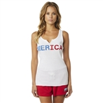 Fox Racing 2018 Womens Merica Tank - White