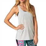 Fox Racing 2018 Womens Miss Clean Racer Tank - Light Heather Grey