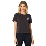 Fox Racing 2018 Womens Rosey Crop - Black Vintage