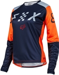 Fox Racing 2017 Womens Switch Jersey - Grey/Orange