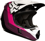 Fox Racing 2017 Youth V1 Halyn Full Face Helmet - Black/Pink