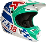 Fox Racing 2017 Youth V1 Sayak Full Face Helmet - Green