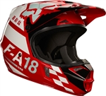 Fox Racing 2017 Youth V1 Sayak Full Face Helmet - Red