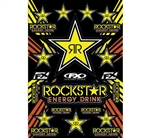 Factory Effex 2018 Rockstar Yellow Sponsor Sticker Kits