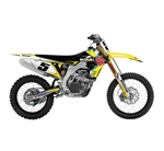 Factory Effex 2018 Suzuki EVO 15 Series Shroud Kits - Yellow/Black/Red/Blue