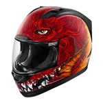 Icon 2018 Alliance Lucifur Helmet - Red