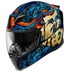Icon 2018 Airflite Good Fortune Helmet - Blue