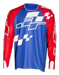 JT Racing 2018 Hyperlite Checker Jersey - Red/White/Blue