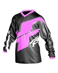 JT Racing 2018 Youth Flex Hi-Lo Jersey - Black/Pink