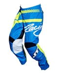 JT Racing 2018 Youth Flex Hi-Lo Pant - Cyan/Neon Yellow