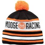 Moose Racing 2018 Drift Knit Beanie - Black/Orange