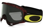 Oakley 2017 O-Frame MX Goggle - Distressed Tagline Red/Yellow W/Grey Lens
