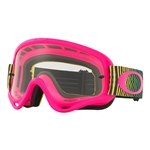 Oakley 2017 O-Frame MX Goggle - Shockwave Flo Pgy W/Clear Lens