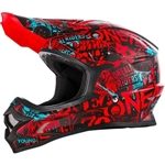 Oneal 2018 3 Series Attack Full Face Helmet - Black/Red/Teal