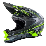 Oneal 2017 7 Series Evo Camo Full Face Helmet - Matte Yellow/Grey