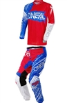 Oneal 2018 Element Burnout Combo Jersey Pant - Red/White/Blue