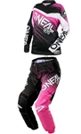 Oneal 2018 Womens Element Racewear Combo Jersey Pant - Black/Pink