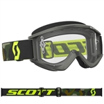 Scott 2017 Recoil Xi MX Clear Lens Goggle - Gray/Fluo Yellow