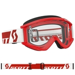 Scott 2017 Recoil Xi MX Clear Lens Goggle - Red