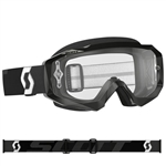 Scott - Hustle MX Clear Lens Goggle- Black