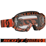 Scott - Hustle MX Clear Lens Goggle- Black/Fluo Orange