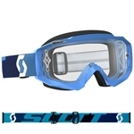 Scott - Hustle MX Clear Lens Goggle- Blue