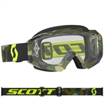 Scott - Hustle MX Clear Lens Goggle- Grey/Fluo Yellow