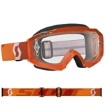 Scott - Hustle MX Clear Lens Goggle- Orange