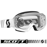 Scott - Hustle MX Clear Lens Goggle- White/Black