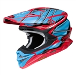 Shoei 2018 VFX-EVO Glaive Full Face Helmet - TC-1 Red/Blue