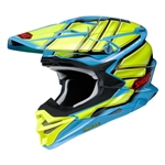 Shoei 2018 VFX-EVO Glaive Full Face Helmet - TC-2 Blue/Yellow
