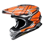 Shoei 2018 VFX-EVO Glaive Full Face Helmet - TC-8 Orange/Grey